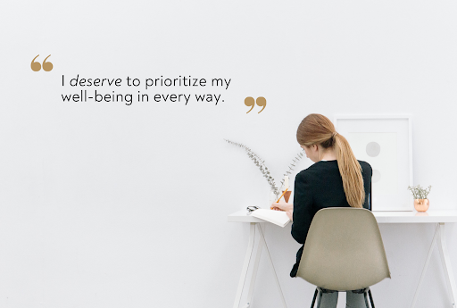 prioritize well being