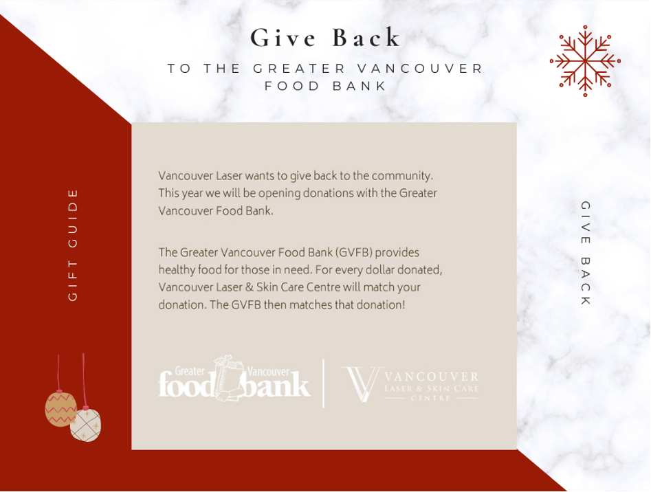 Give Back to The Greater Vancouver Food Bank